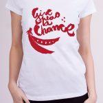 damske-triko-give-peas-a-chance-bila-cerveny-motiv