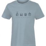 TRANSPORT Dětské triko světle modré